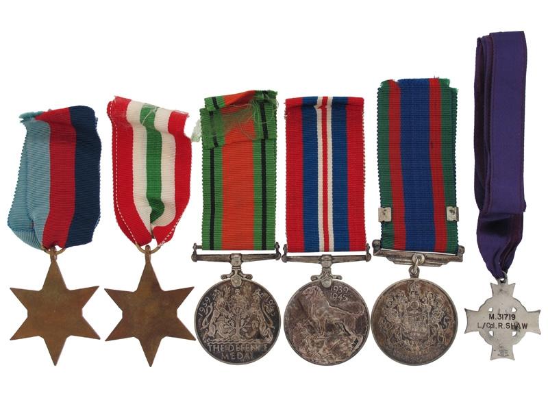 Memorial Cross Group - L/Cpl Shaw - Monte Cassino