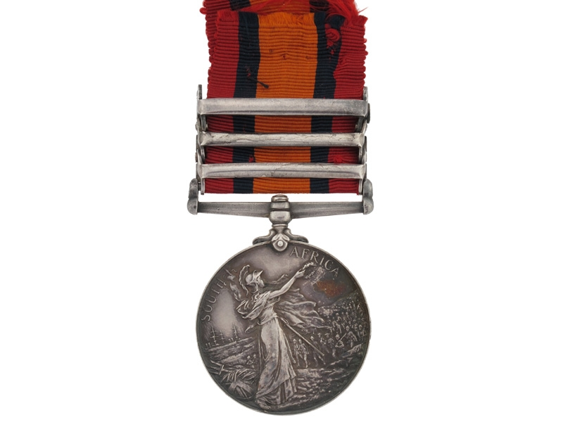 Queen's South Africa Medal, Pte.Milliken, R.C.R.