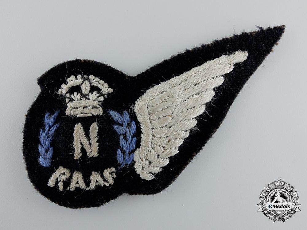 A Second War Royal Australian Air Force (RAAF) Navigator (N) Wing