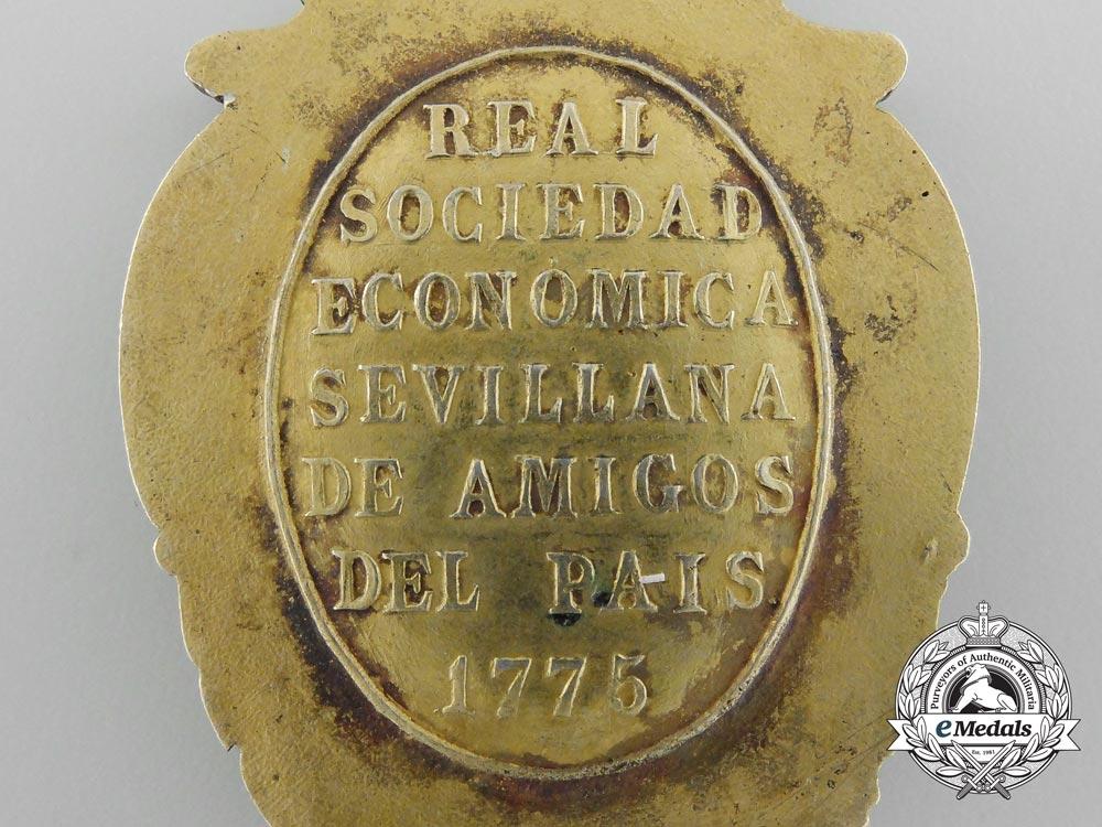 Spain, Kingdom. A Royal Sevillian Economic Society of Friends of the Spain Medal