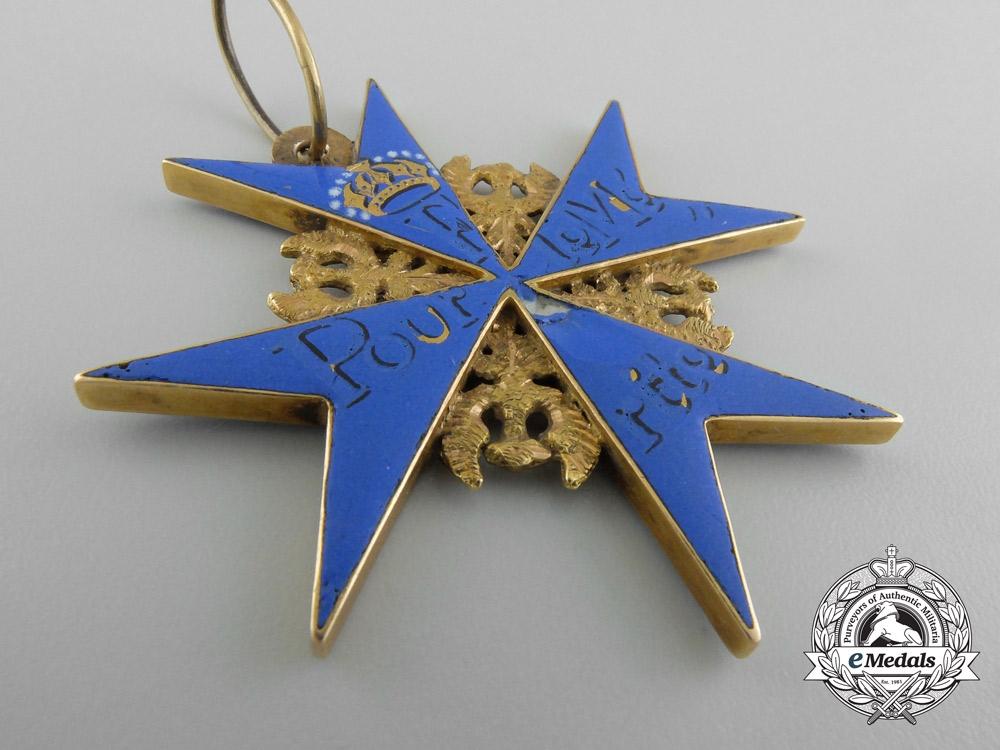 Prussia, Kingdom. The Pour-le-Merite in Gold & Award Documents of Baron Von Rosener, Austrian General Staff