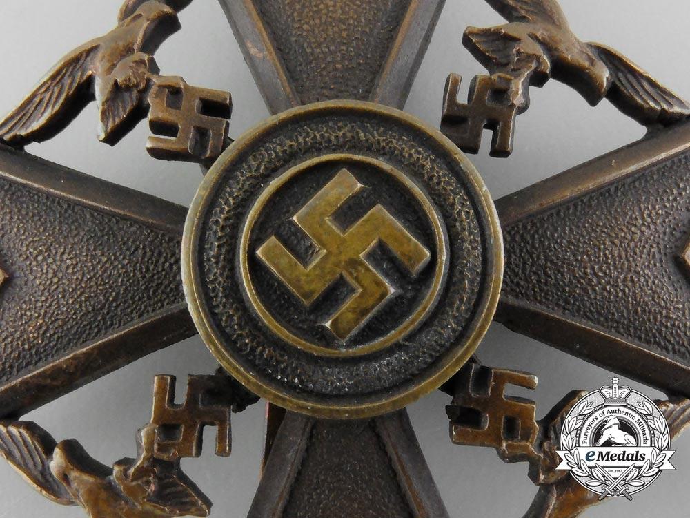 Germany, Luftwaffe. A Spanish Cross, Bronze Grade, by Paul Meybauer