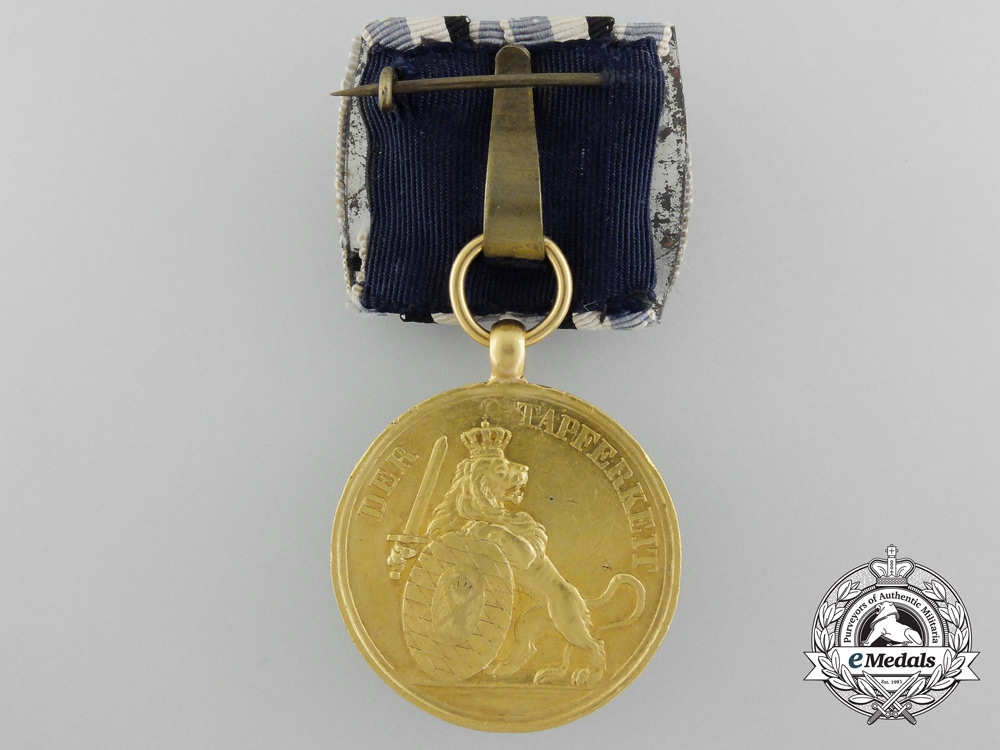 A Bavarian Gold Military Merit Medal in Gold