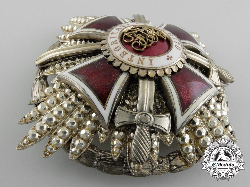 Austria, Imperial. An Order of Leopold, First Class Star with KD & Swords, c.1930