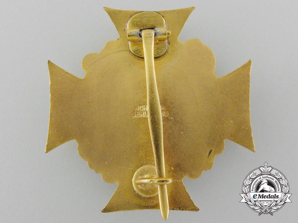 A Mint German War Veteran's Honor Cross; 1st Class with Box