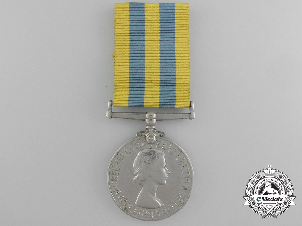 A Korea Campaign Medal to the Royal Signals