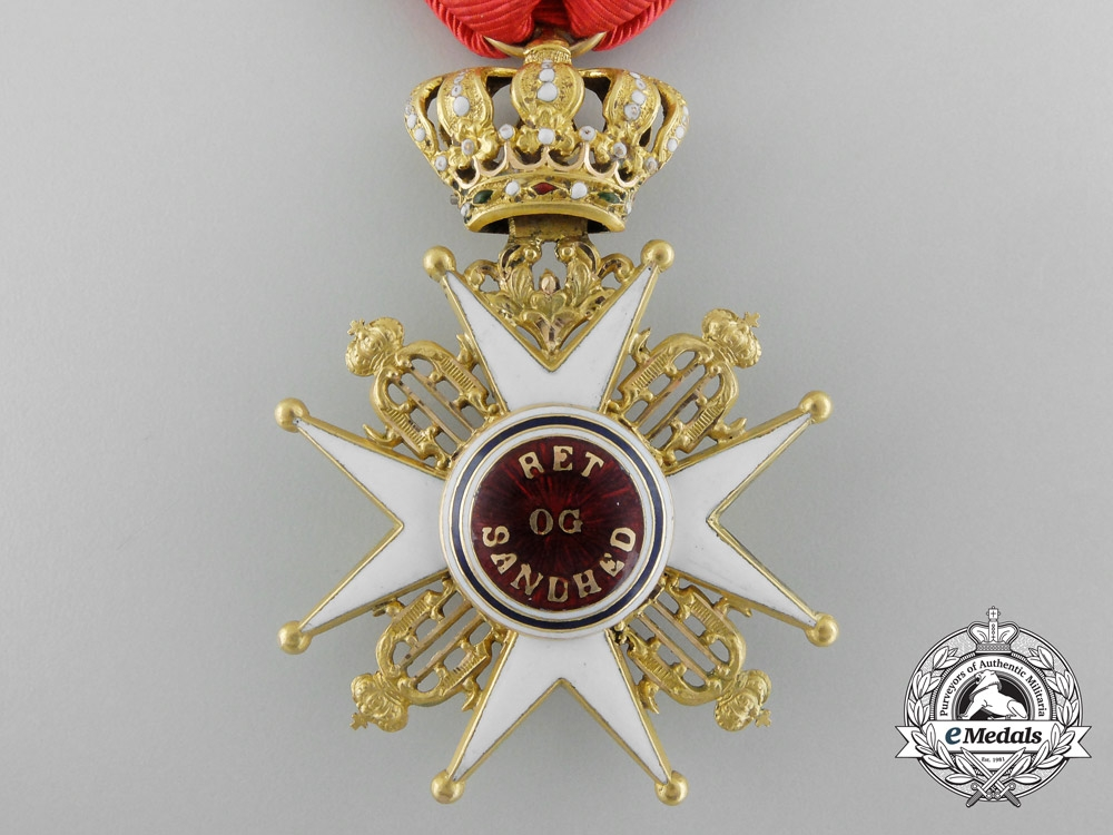A Norwegian Order of St. Olaf in Gold; First Class (1847-1906)