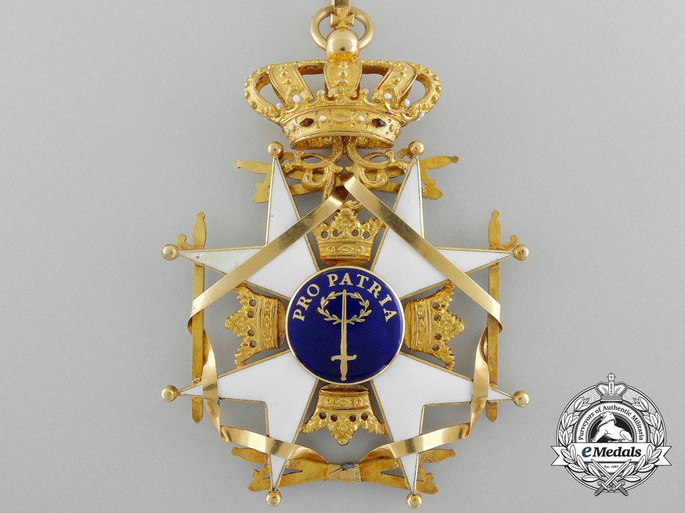 A Swedish Order of the Sword; Commander's Cross in Gold by C.F. Carlman