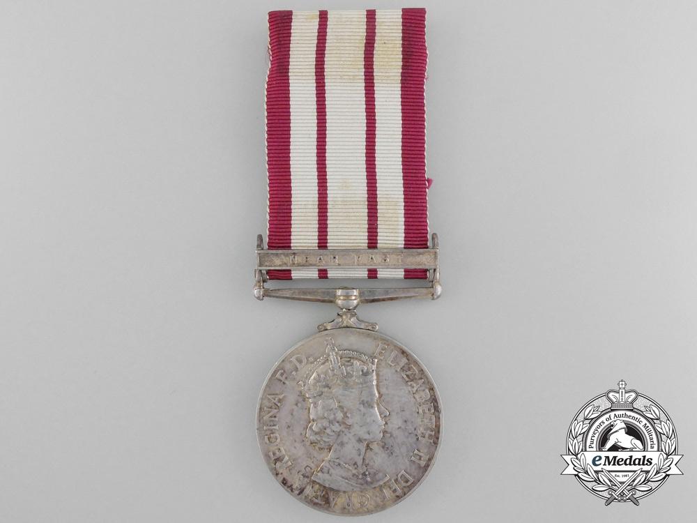 Navy//Marines Elizabeth II ER Superb Silver Replica Naval General Service Medal