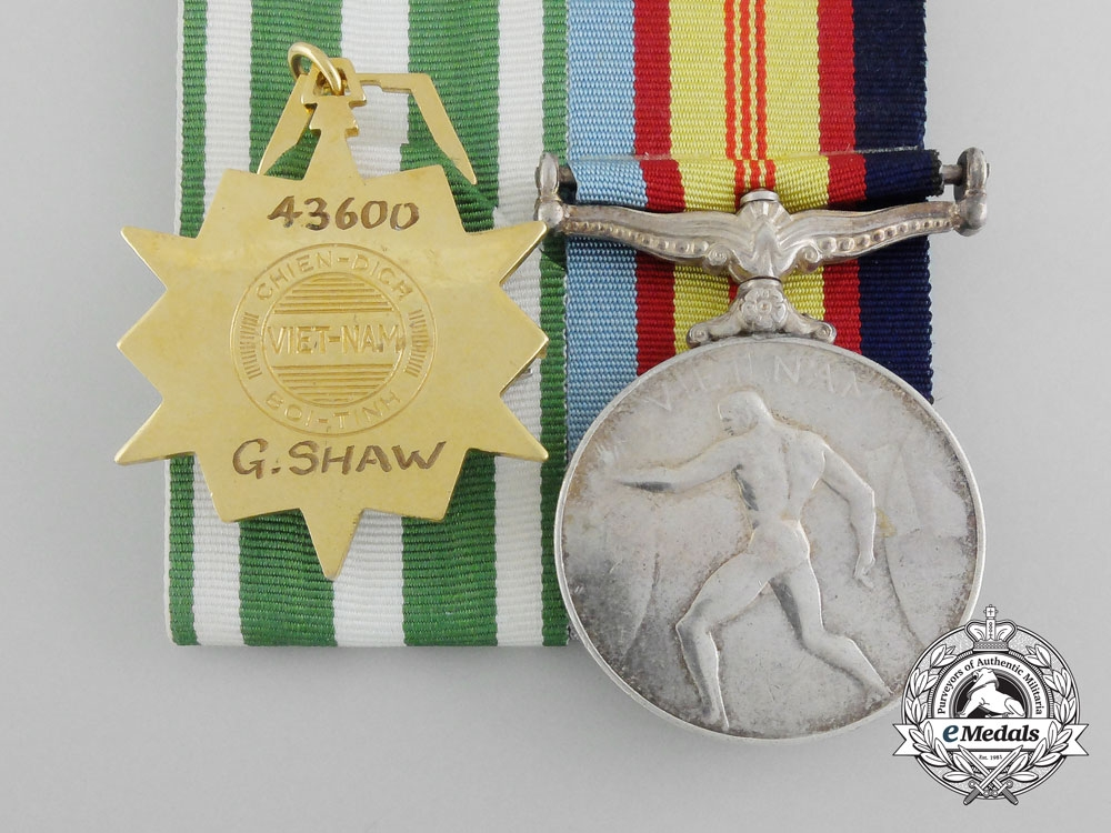 A Pair to Geoff Shaw; An Aboriginal Order of Australian Recipient who Fought in Borneo & Vietnam