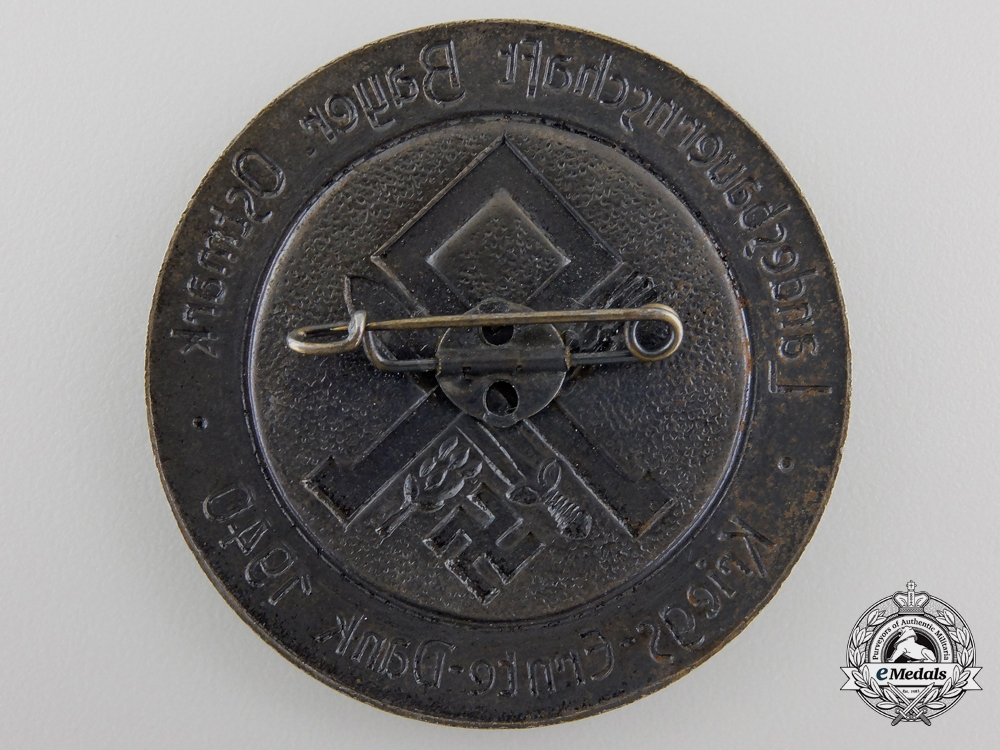 "A 1940 Bavarian Agricultural ""Harvest Thank you Day Badge"