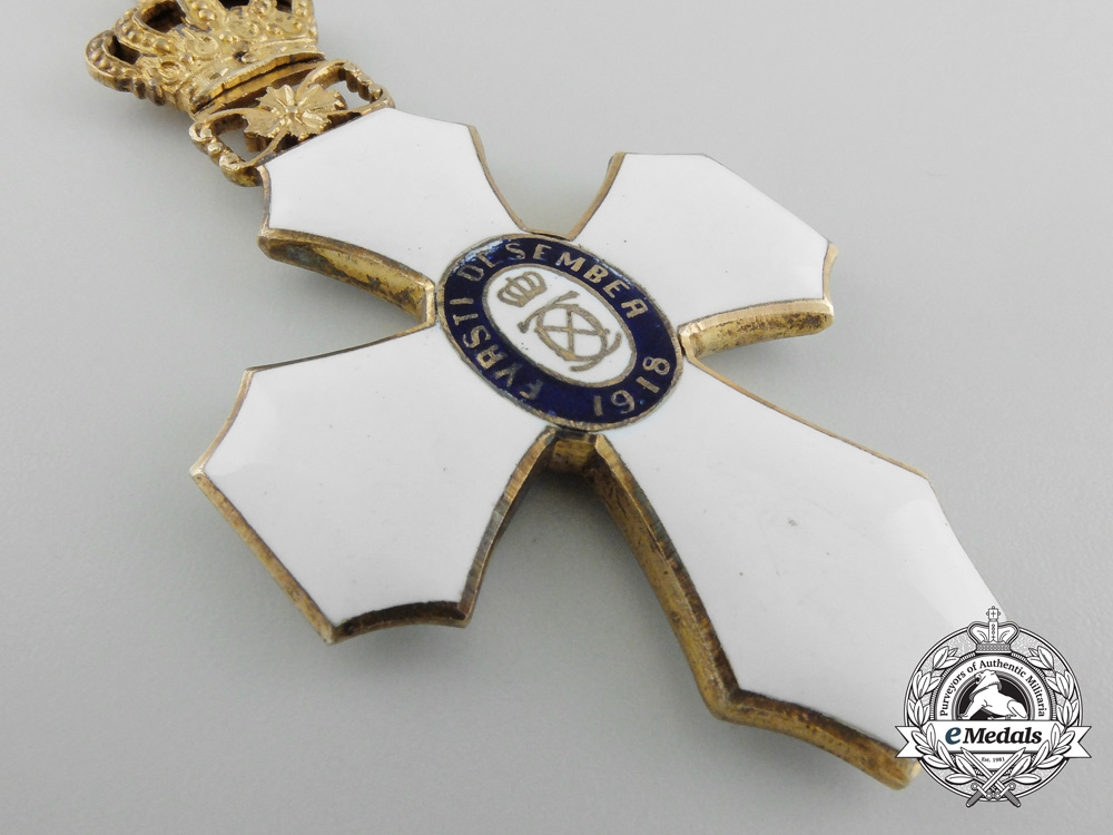 Iceland. An Order of the Falcon, Type I with Royal Crown, c.1930