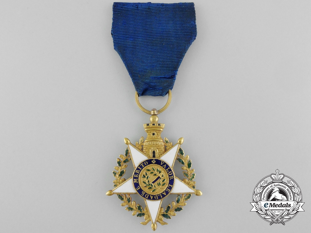 An Early Portuguese Military Order of the Tower and Sword c.1820