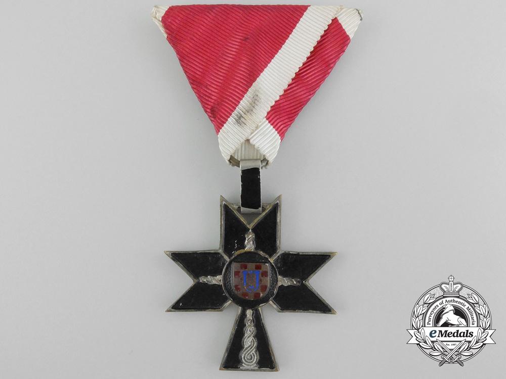 A Second War Croatian Order of Iron Trefoil; Fourth Class