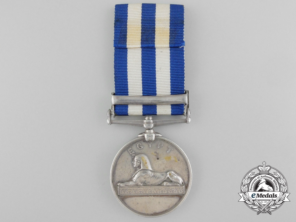 An Egypt Medal to the Royal Engineers for Service on the Nile