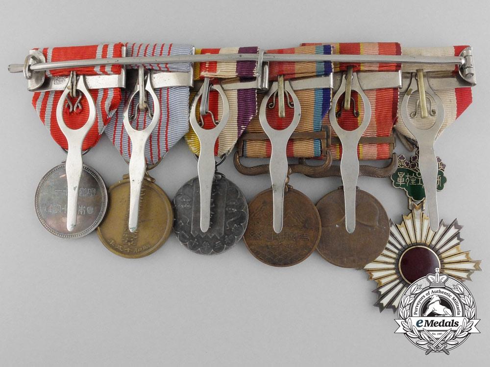 A Japanese Order of the Rising Sun Medal Bar