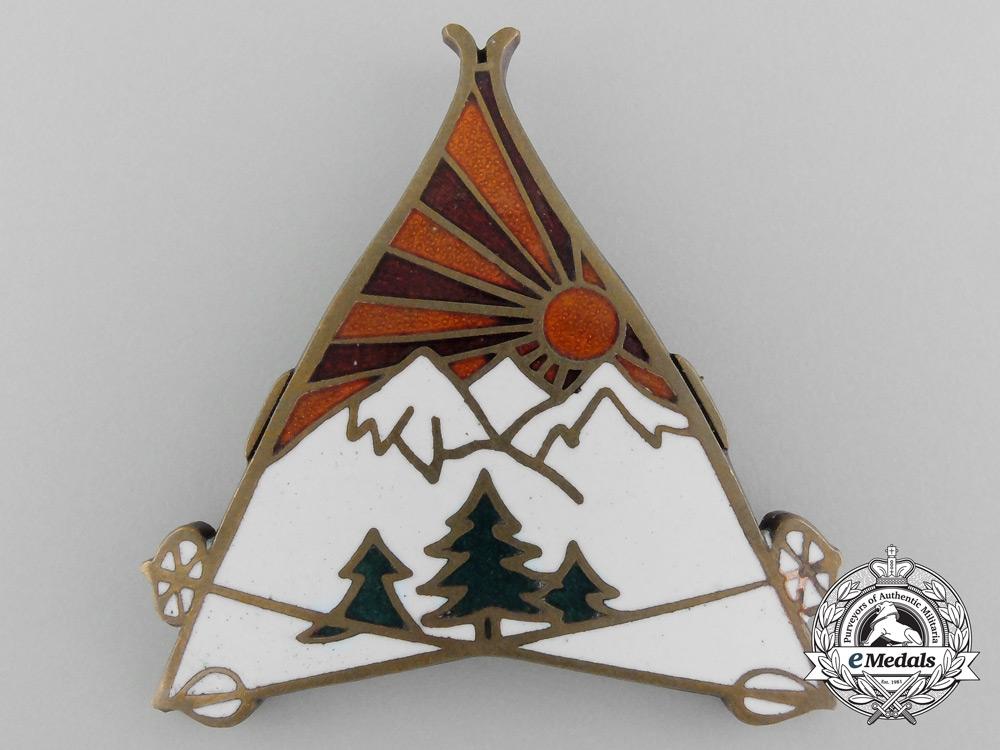 A 1932 Royal Yugoslavian Army Mountain Units Badge