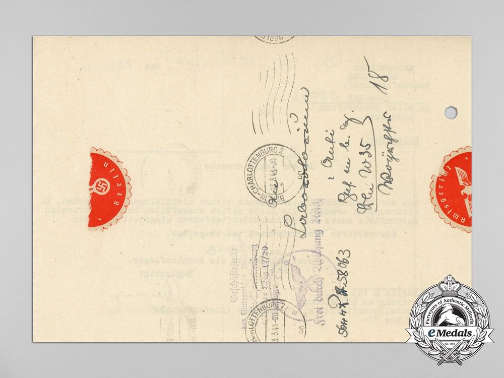 A 1943 Berlin District Court Business Registration Notice