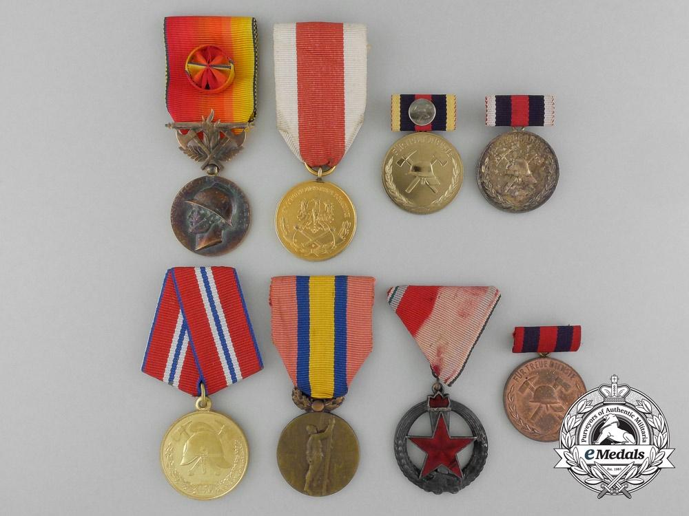 Eight European Firefighting Medals & Awards