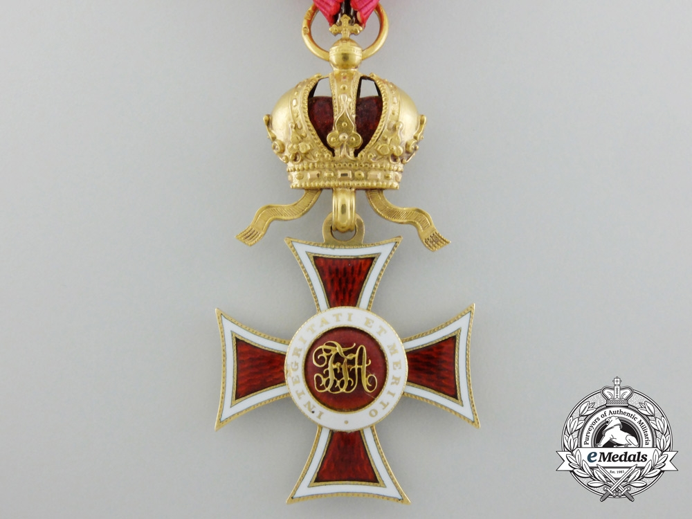 An Austrian Order of Leopold in Gold by Rothe with Miniature GC Star