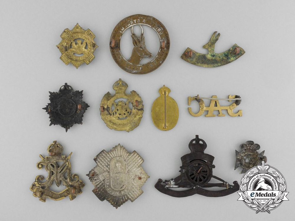 A Lot of Eleven South African Uniform Badges and Pins