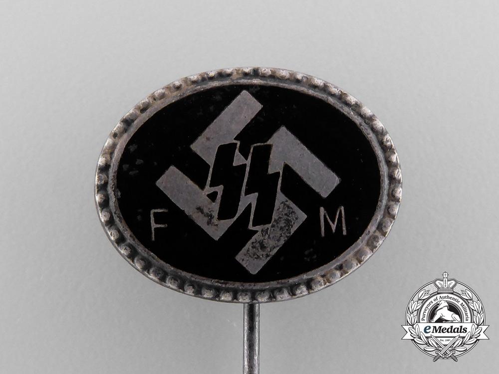 A Waffen-SS Patron Member Lapel Pin by Deschler