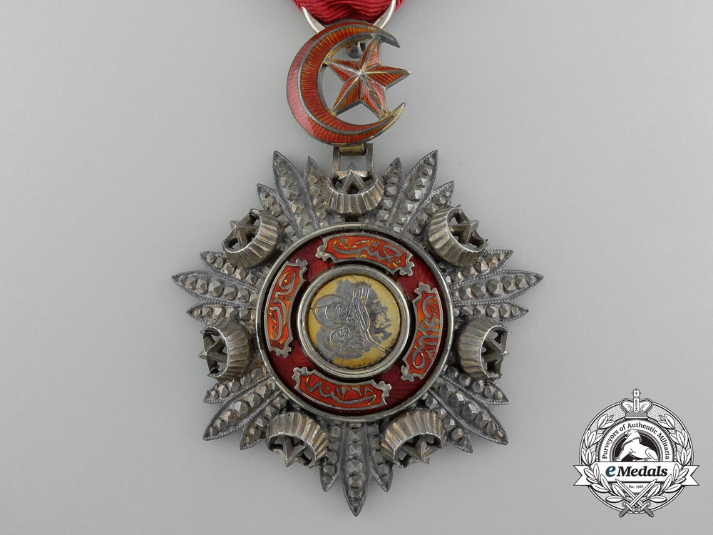 A Turkish Order of Medjidie (Mecidiye); Breast Badge by Godet