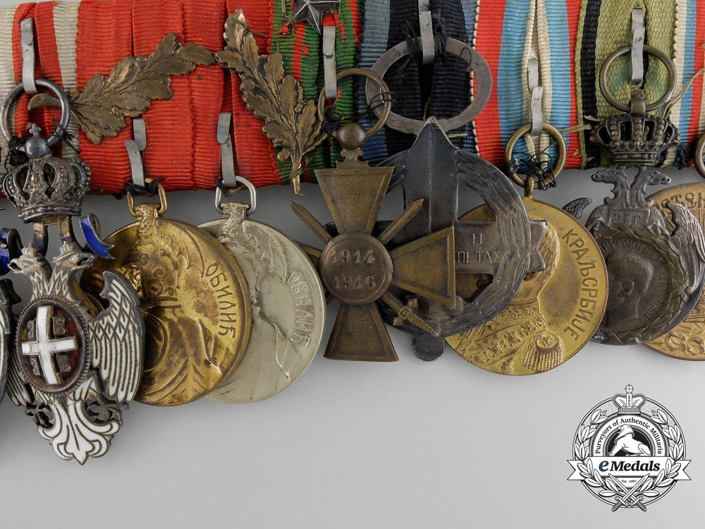 A Fine & Unusual Serbian First War Officer's Group of Twelve