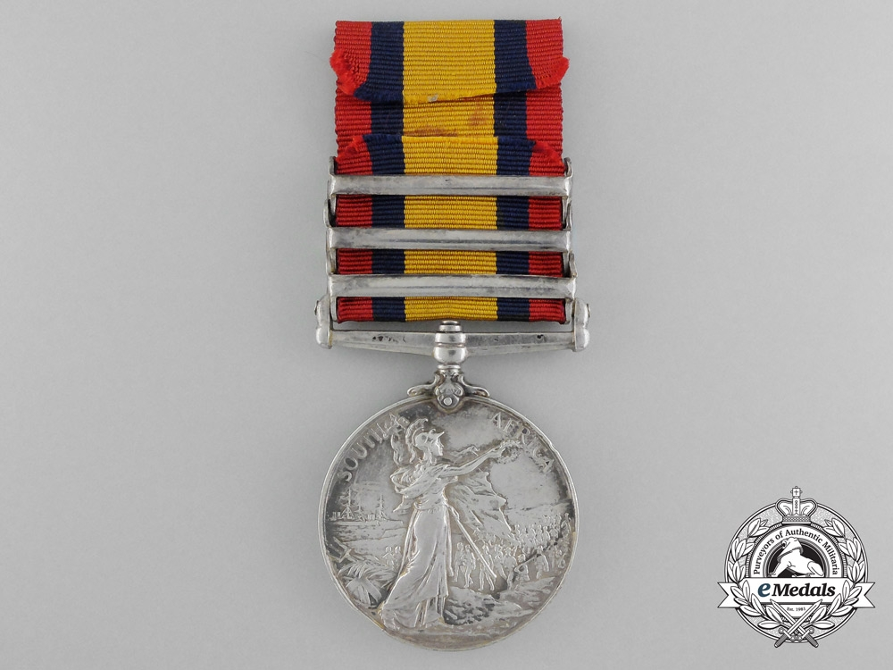A Queen's South Africa Medal to the Royal West Surrey Regiment; Imprisoned
