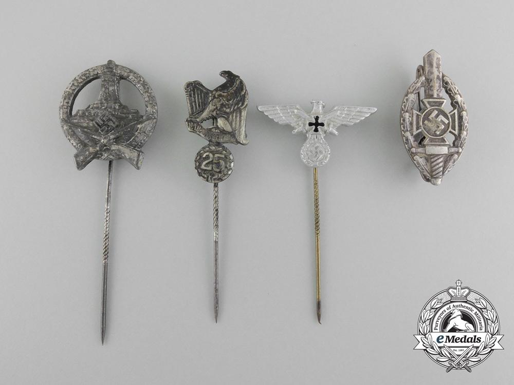 A Set of Four German Stick Pins