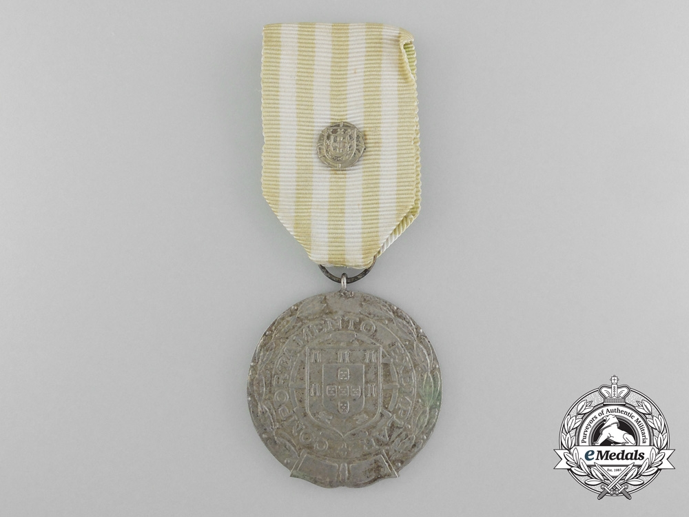 Portugal, Kingdom. A Military Exemplary Conduct Medal, Silver Grade