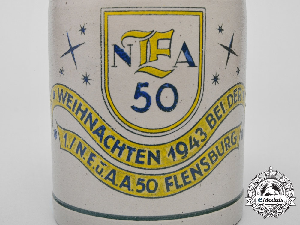 A Flensburg 50th German Communications Division Christmas Beer Stein