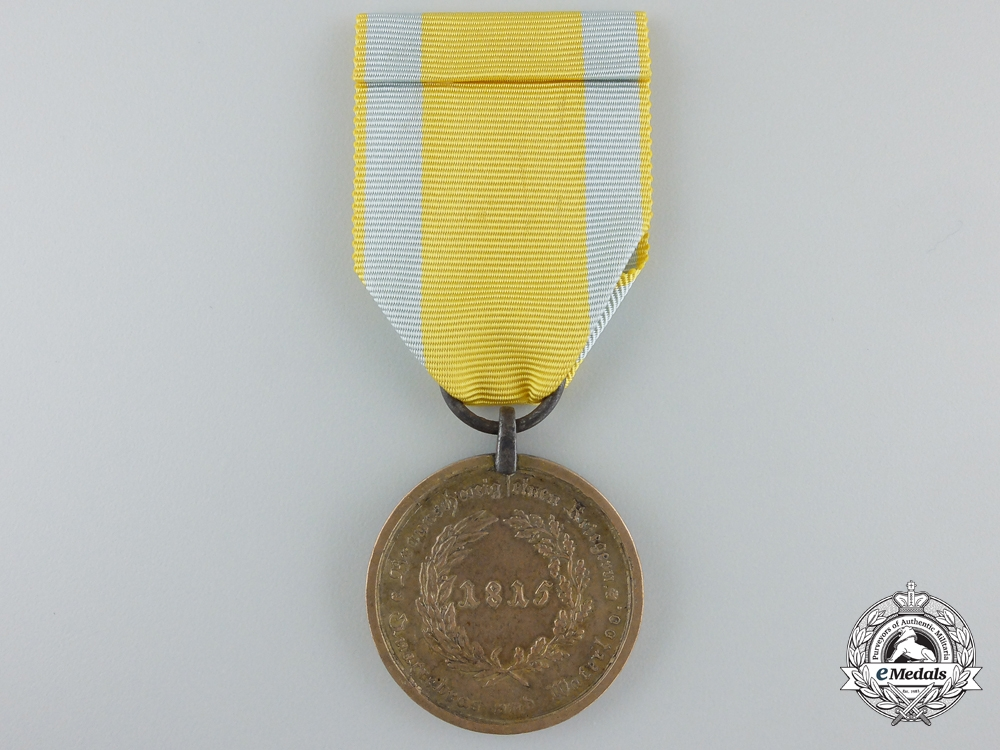 An 1815 Brunswick Waterloo Medal to Andr. Jaeger; 3rd Jäger Battalion