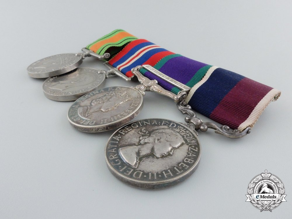 United Kingdom. A Royal Air Force Group to Sergeant A.G. Vincent