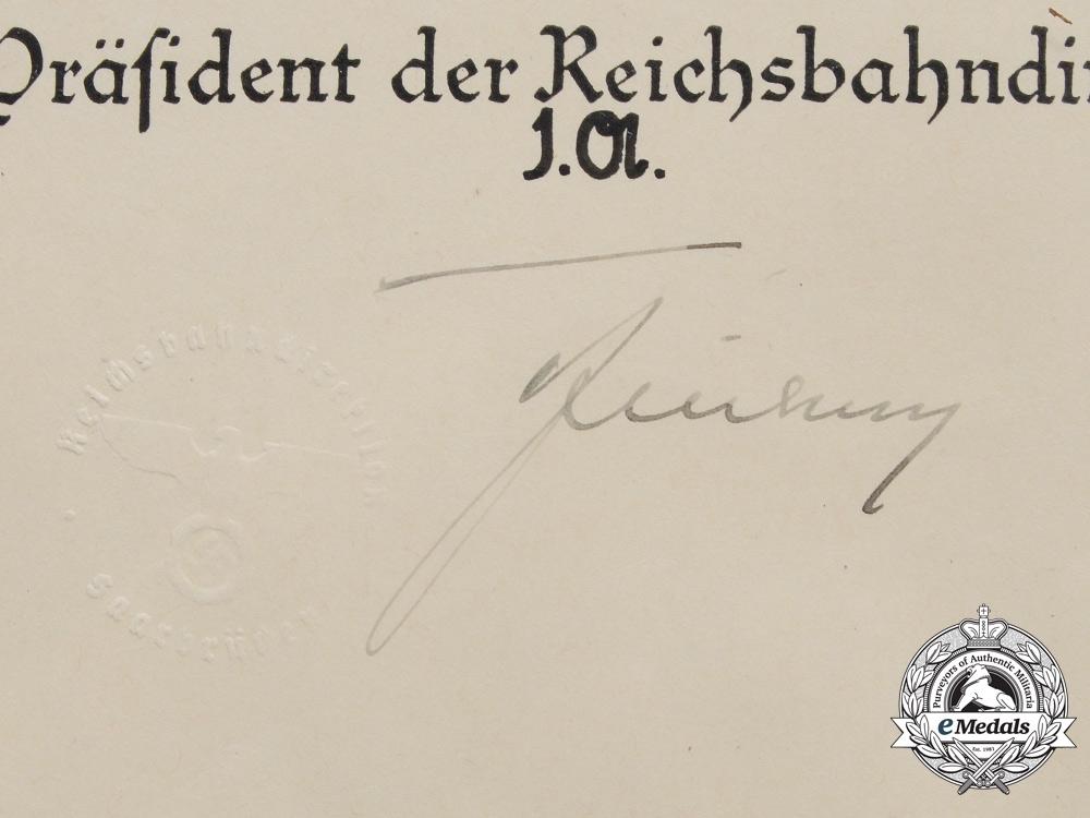 A Reichsbahn Promotion Document for Reichsbahnsekretär