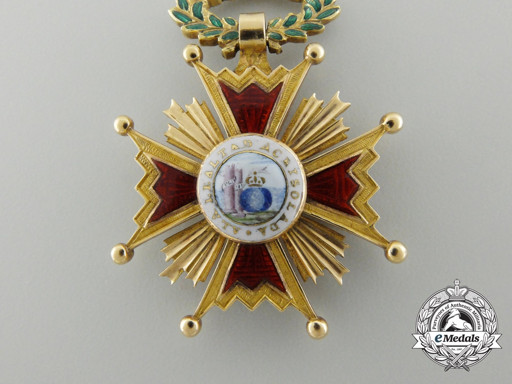 A Fine Spanish Order of Isabella III in Gold