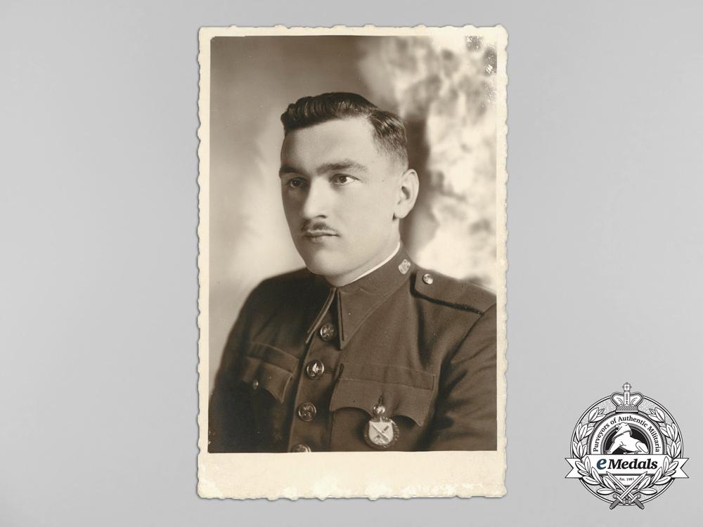 Four 1930's Period Czechoslovakian Officer's Photos