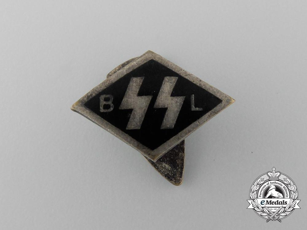 "A Flemish Allgemeine-SS ""SS BL"" Financial Supporter's Badge"