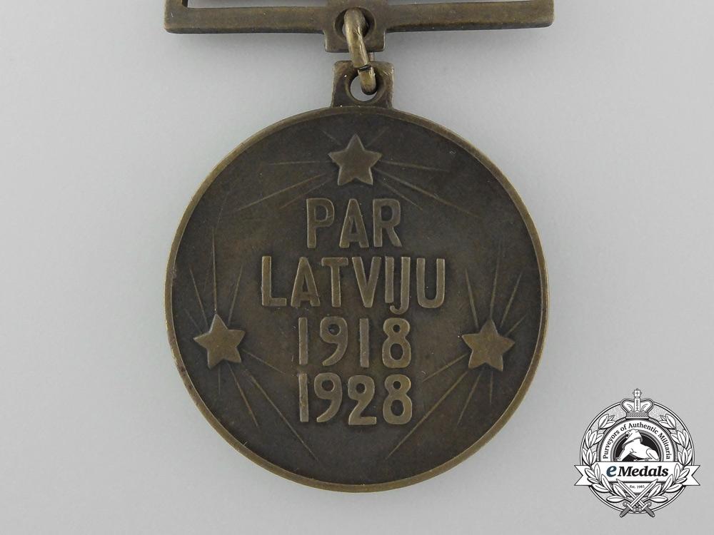 A Latvian Liberation War 10th Anniversary Participants Medal