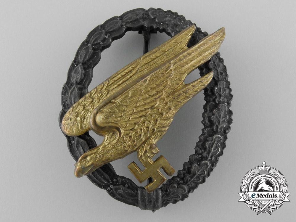 A Luftwaffe Fallschirmjäger Badge by Berg & Nolte, Lüdenscheid