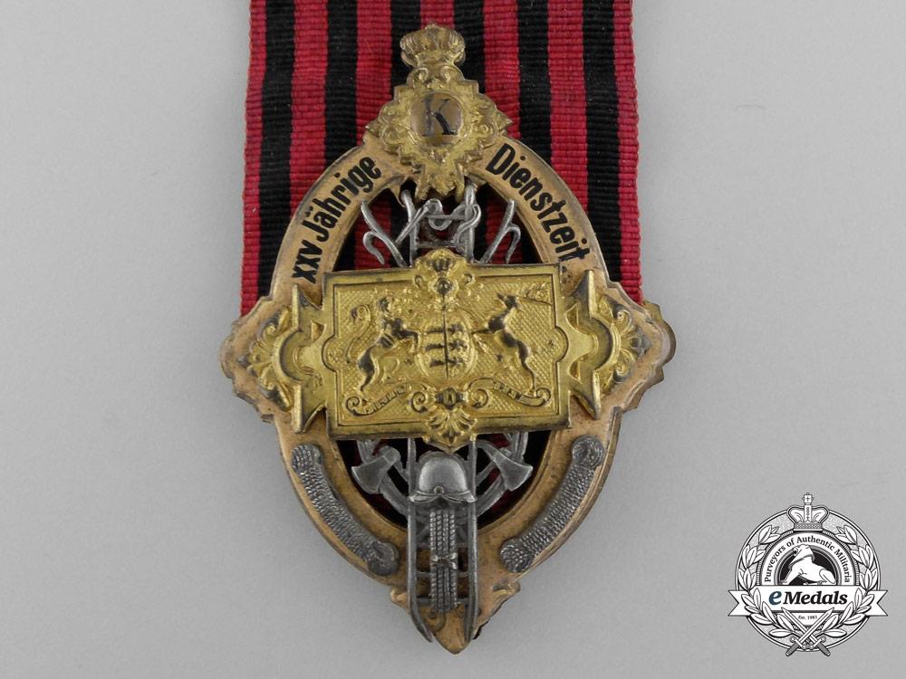 A Württemberg Firefighter 25 Year Long Service Awards