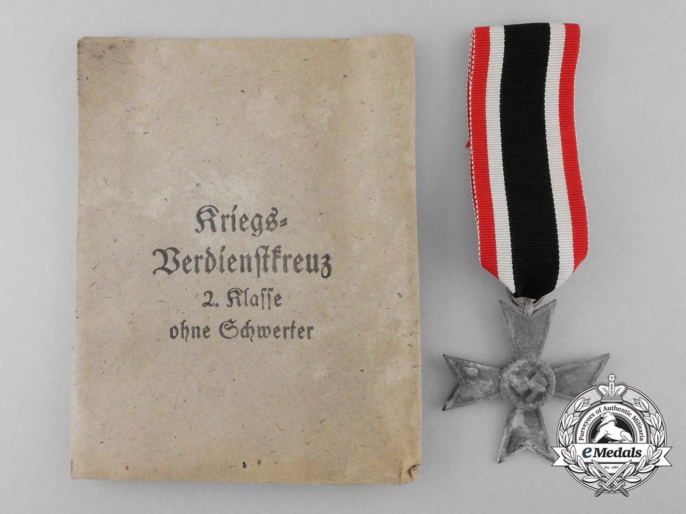 A War Merit Cross Second Class with Packet