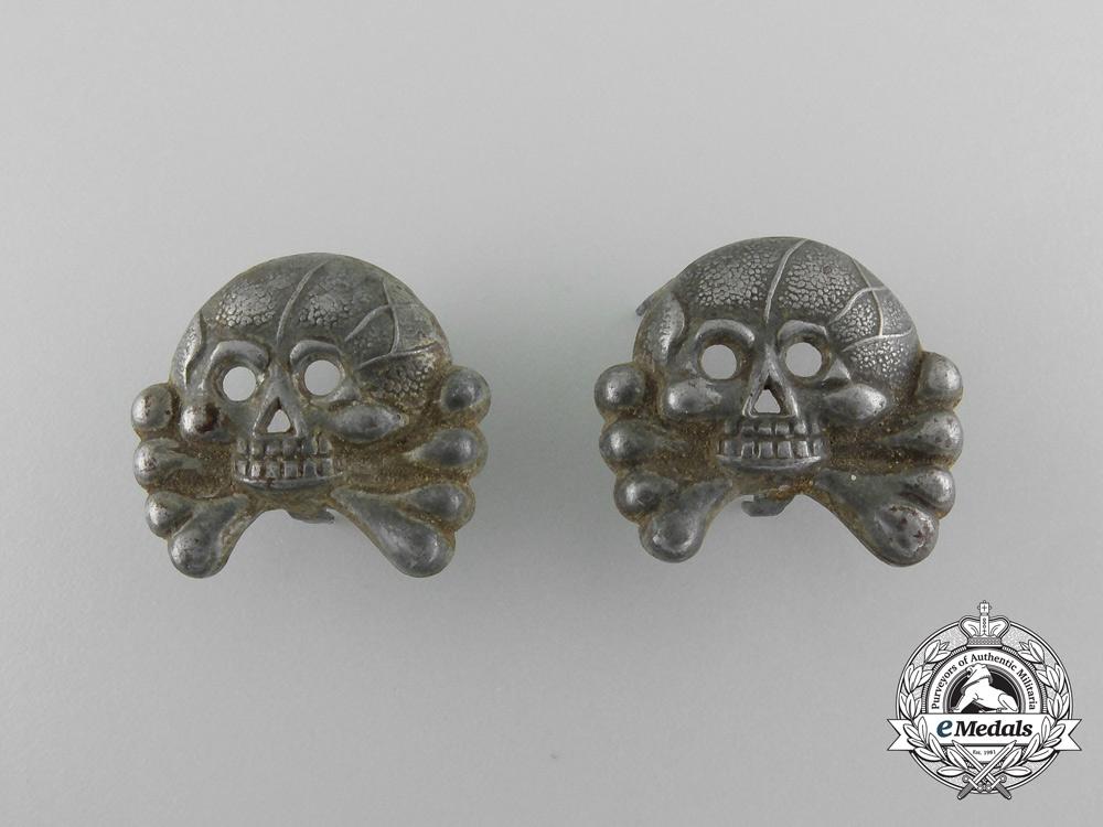 A Set of Panzer Collar Insignia Pair