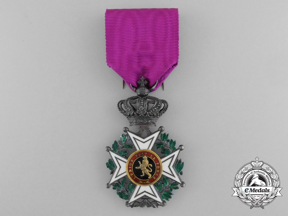 Belgium, Kingdom. An Order of Leopold, Knight, Military Division