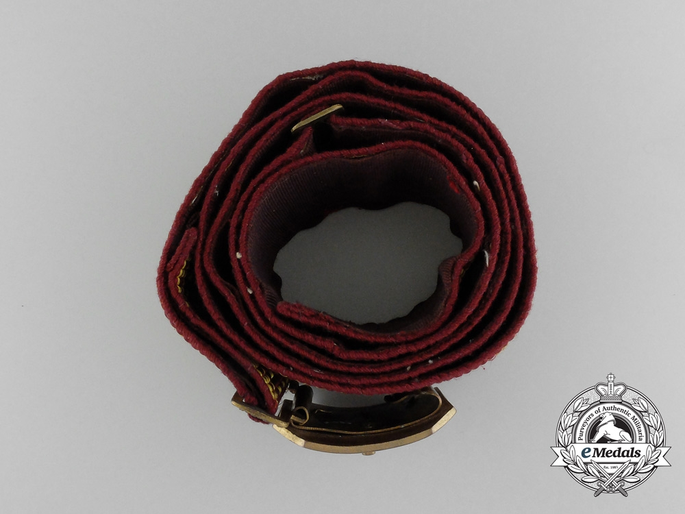 A Latvian Civil Guards Officer's Belt with Buckle c.1930s