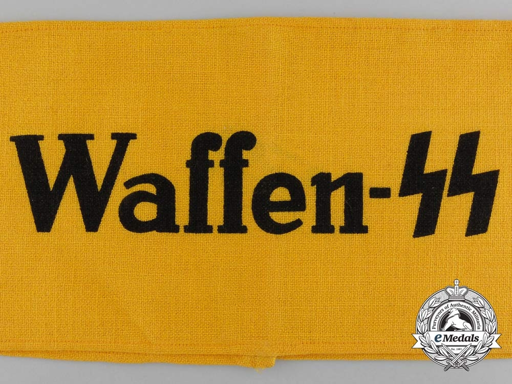 A Mint and Unissued Waffen-SS Auxiliary Member's Armband