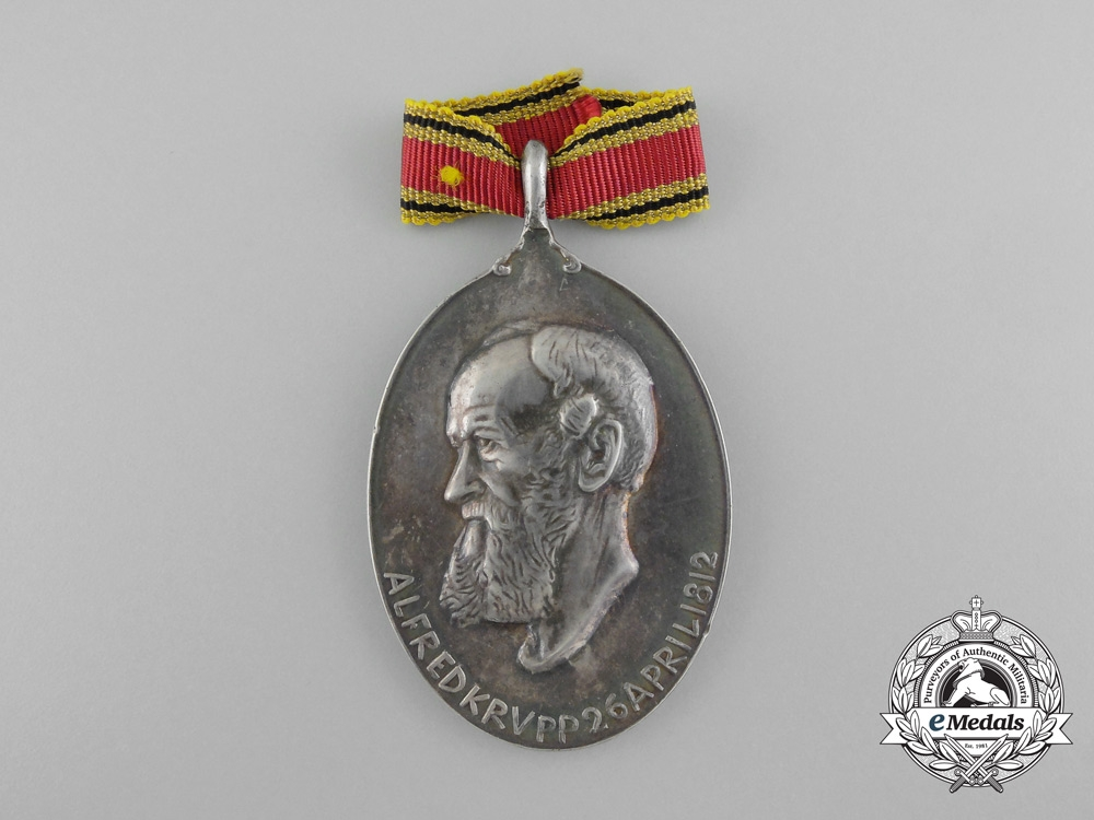 A 1812-1912 100th Anniversary of the Birth of Alfred Krupp Medal