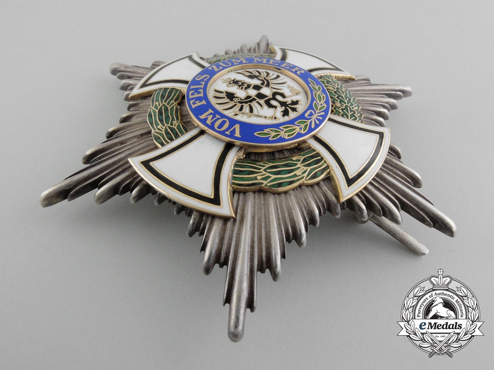 A Prussian House Order of Hohenzollern; Commander Star by Godet