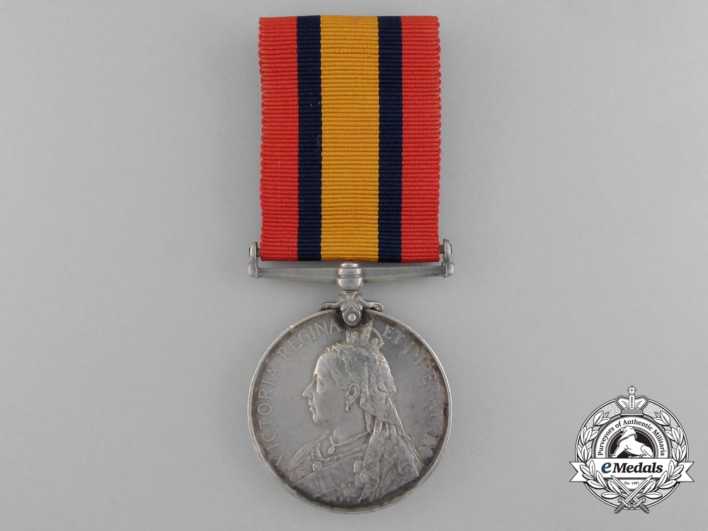 A 1899 Queen's South Africa Medal to the H.M.S Powerful