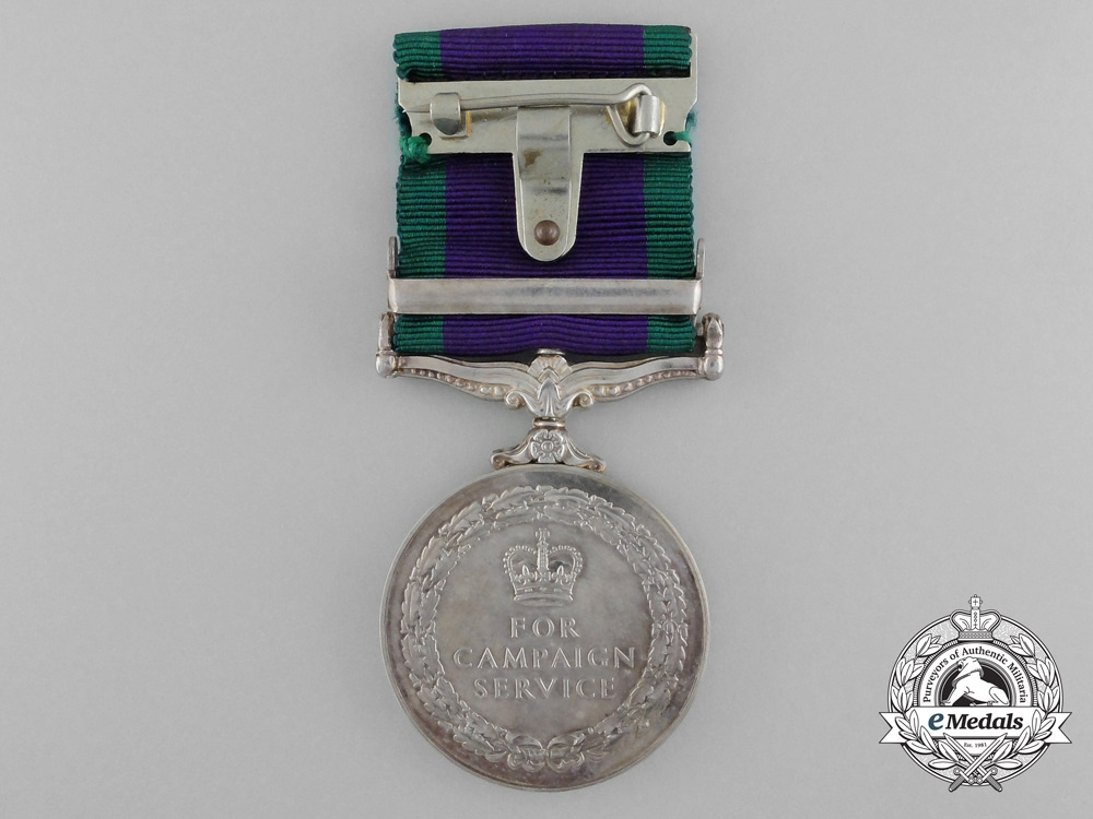 A 1962-2007 General Service Medal to the Ulster Defense Regiment